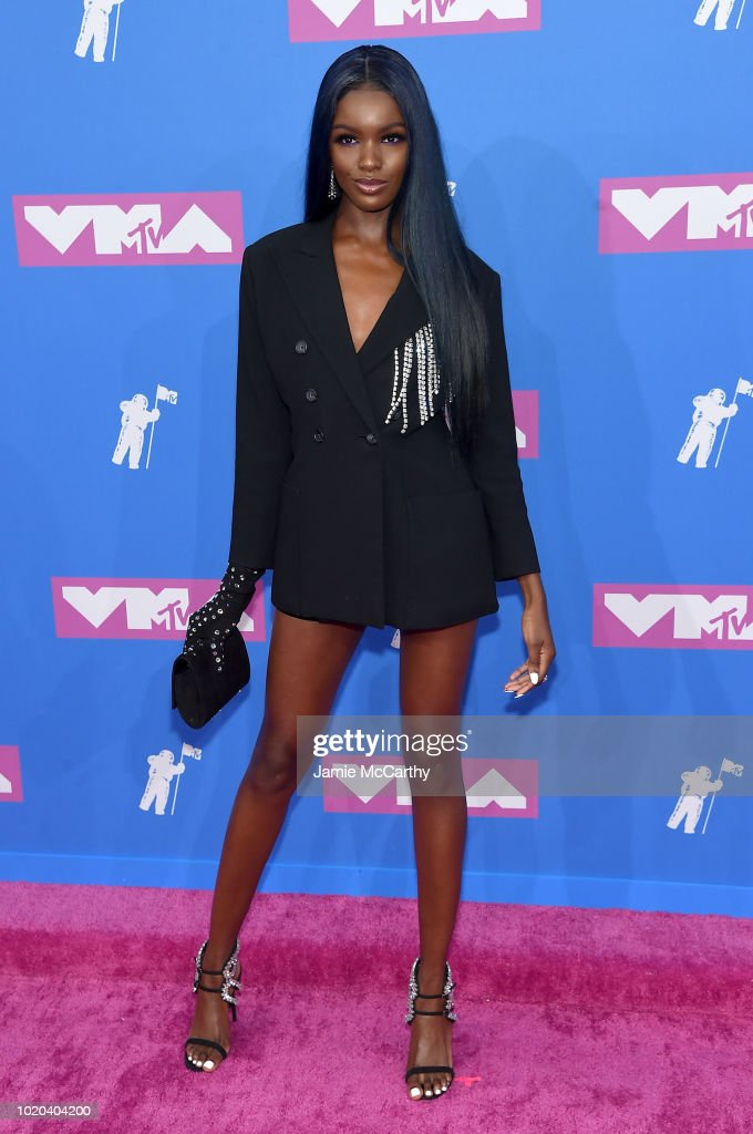 Leomie Anderson attends the 2018 MTV Video Music Awards at Radio City Music Hall on August 20, 2018 in New York City.