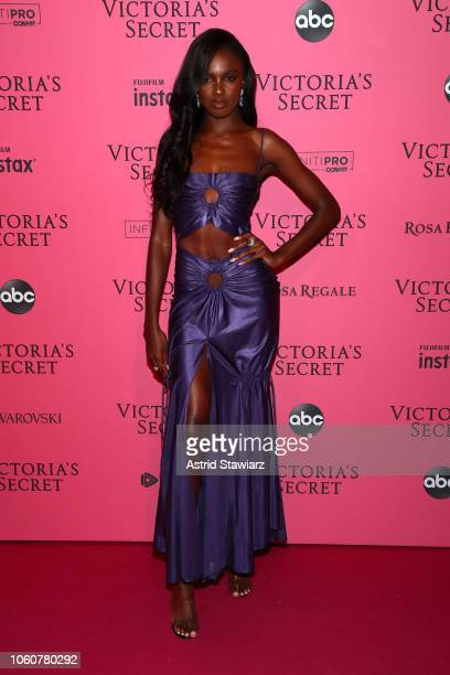 Leomie Anderson attends the 2018 Victoria's Secret Fashion Show After Party on November 8, 2018 in New York City.