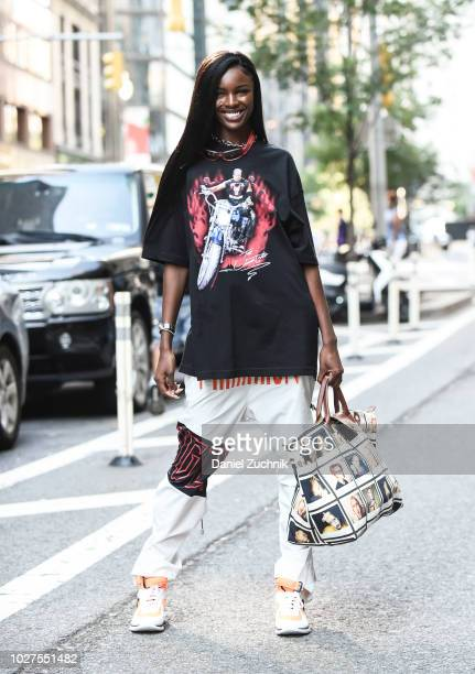 Leomie Anderson attends the casting for the 2018 Victoria's Secret Show in Midtown on September 5 2018 in New York City