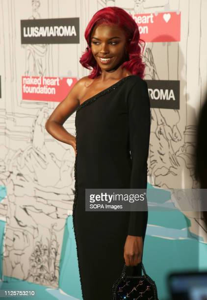 Leomie Anderson attends the Fabulous Fund Fair as part of London Fashion Week event
