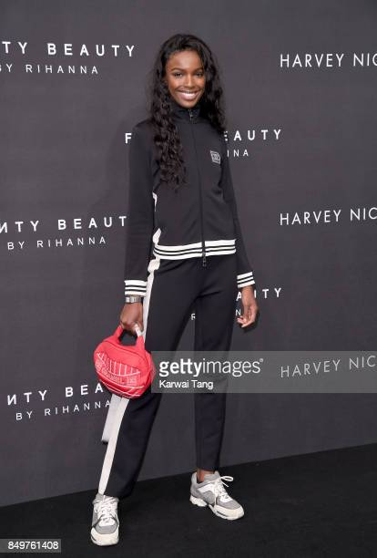 Leomie Anderson attends the 'FENTY Beauty' by Rihanna launch Party at Harvey Nichols Knightsbridge on September 19, 2017 in London, England.