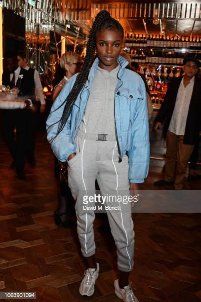 Leomie Anderson attends the launch of new restaurant Brasserie Of Light at Selfridges on November 20, 2018 in London, England.