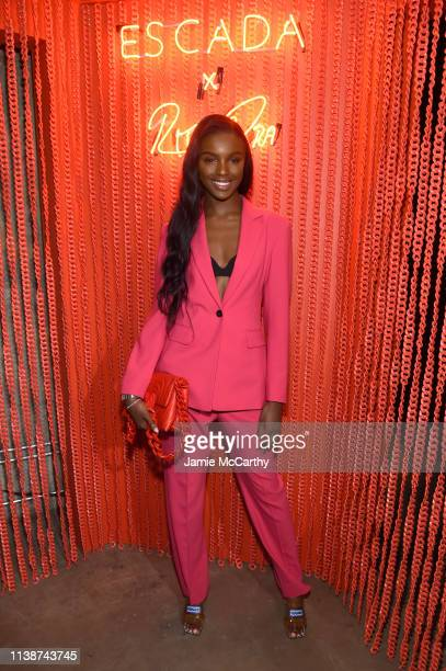 Leomie Anderson attends the launch of the ESCADA Heartbag by Rita Ora on March 27 2019 in New York City