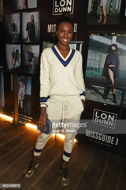 Leomie Anderson attends the Lon Dunn + Missguided launch event hosted by Jourdan Dunn at The London EDITION on February 17, 2017 in London, England.