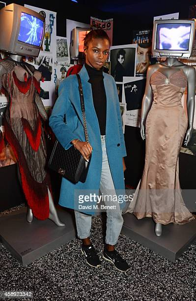 Leomie Anderson attends the MAC Cosmetics Joey Arias Party at Electric Ballroom on November 13 2014 in London England