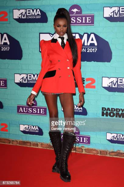 Leomie Anderson attends the MTV EMAs 2017 held at The SSE Arena Wembley on November 12 2017 in London England