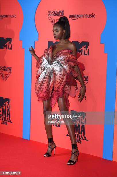 Leomie Anderson attends the MTV EMAs 2019 at FIBES Conference and Exhibition Centre on November 03 2019 in Seville Spain