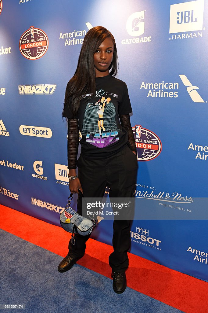 Leomie Anderson attends the NBA Global Game London 2017 after party at The O2 Arena on January 12, 2017 in London, England.