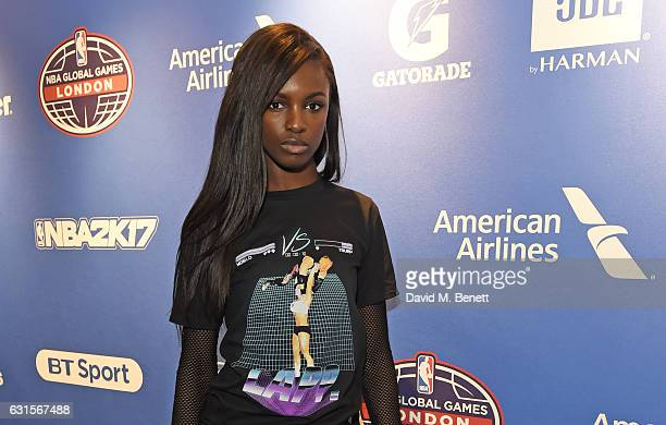 Leomie Anderson attends the NBA Global Game London 2017 after party at The O2 Arena on January 12 2017 in London England