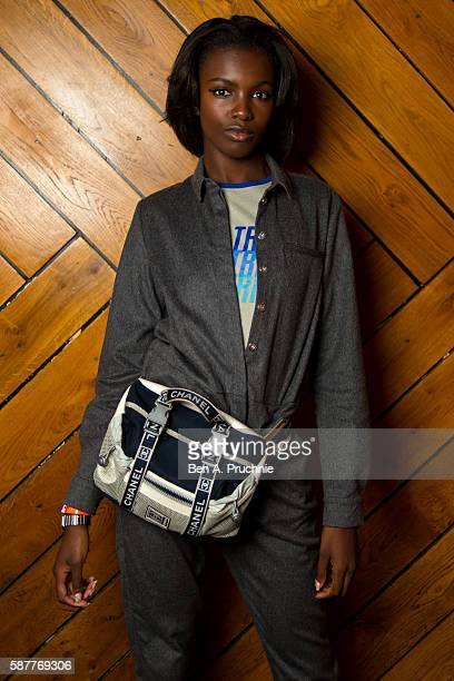 Leomie Anderson attends the NikeLab x Riccardo Tisci launch at Village Underground on August 9 2016 in London England
