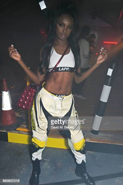 Leomie Anderson attends the OffWhite x Dazed Fashion Awards after party at RUIN 180 The Strand on December 4 2017 in London England