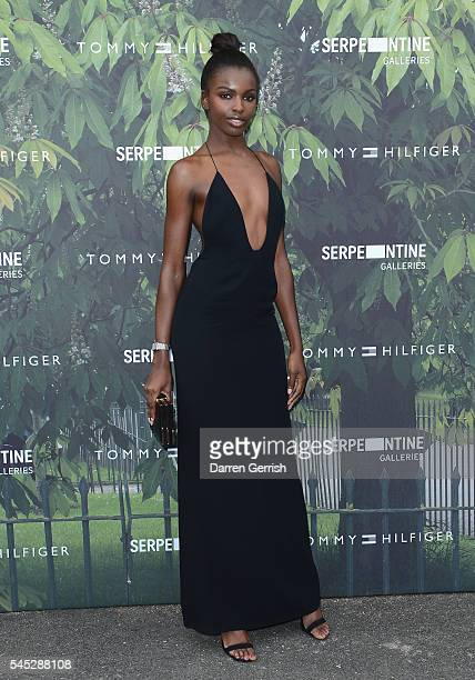 Leomie Anderson attends the Serpentine Summer Party cohosted by Tommy Hilfiger at the Serpentine Gallery on July 6 2016 in London England