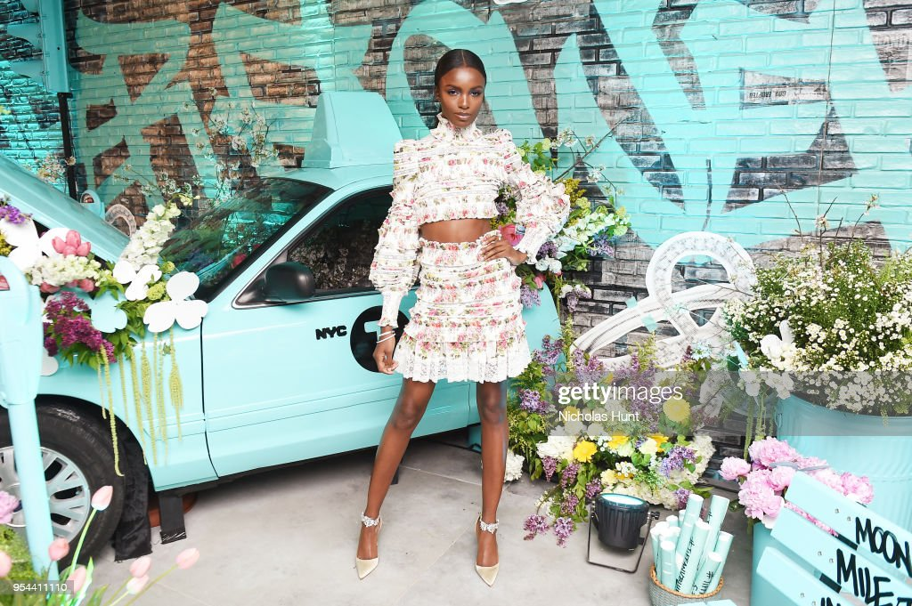 Tiffany cos paper flowers and believe in dreams launch leomie anderson attends the tiffany co paper flowers event and believe in dreams campaign mightylinksfo