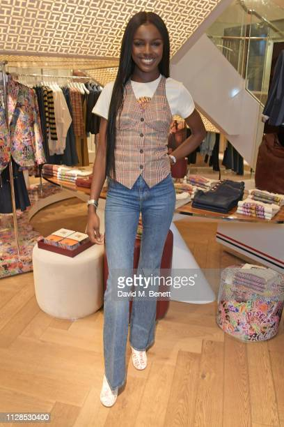 Leomie Anderson attends the TommyXZendaya collection launch event at the Tommy Hilfiger store on March 3, 2019 in London, England.