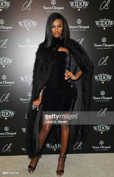 Leomie Anderson attends The Veuve Clicquot Widow Series By Carine Roitfeld And CR Studio on October 19 2017 in London England