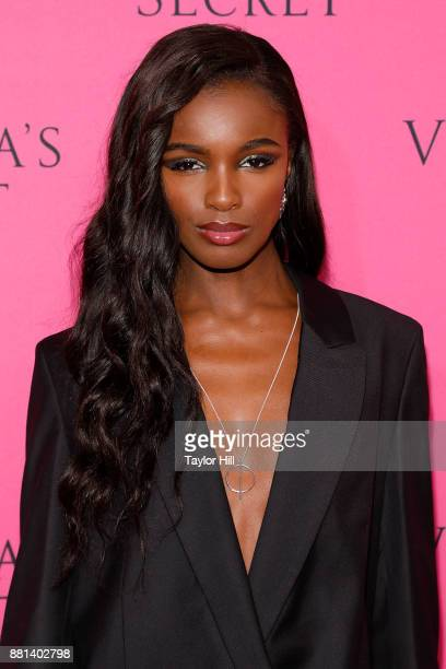 Leomie Anderson attends the Victoria's Secret Viewing Party Pink Carpet celebrating the 2017 Victoria's Secret Fashion Show in Shanghai at Spring...