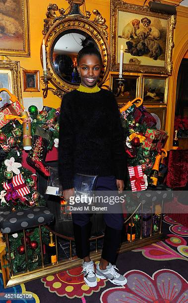 Leomie Anderson attends Veuve Clicquot Style Party at Annabel's on November 26 2013 in London England