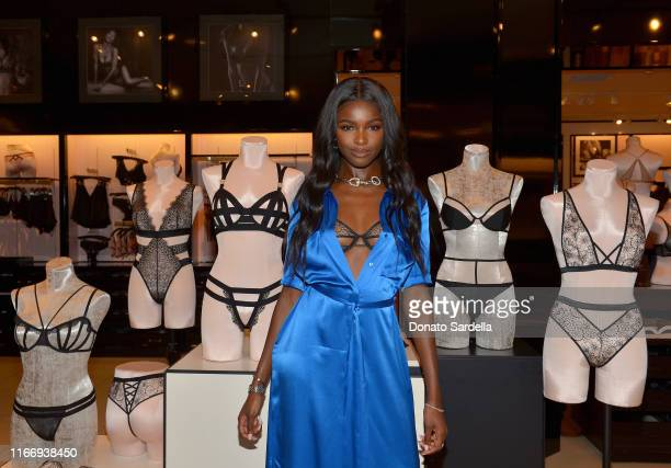 Leomie Anderson attends Victoria's Secret debuts new Fall Collection with Angel Leomie Anderson in Los Angeles on August 08 2019 in Los Angeles...