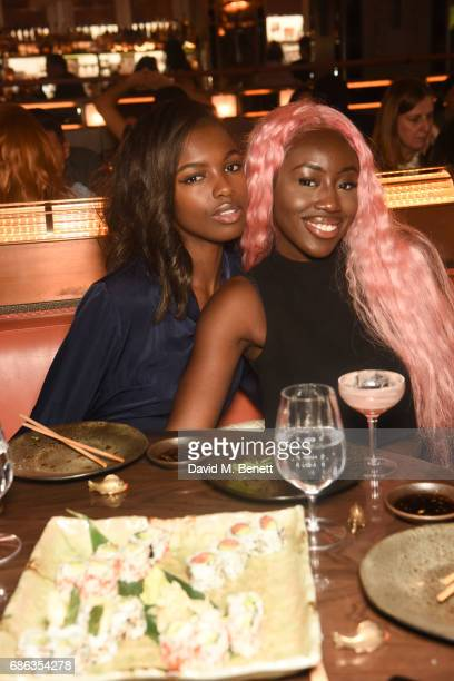 Leomie Anderson Bree Runway are seen at Nick Grimshaw's Sexy Brunch at Sexy Fish on May 21 2017 in London England