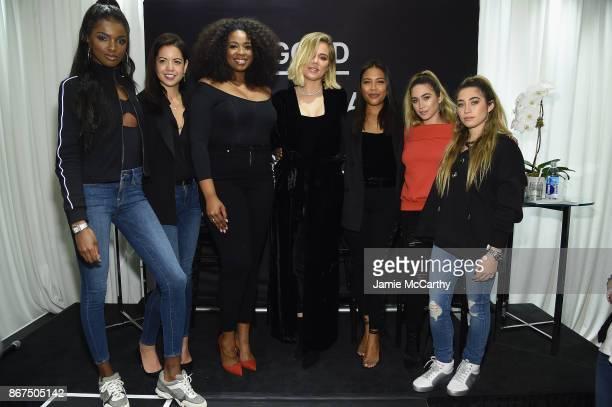 Leomie Anderson Heather Shimokawa Jazzmine Carthon Allie Kaplan and Lexi Kaplan join Khloe Kardashian and Emma Grede as they celebrate the launch of...