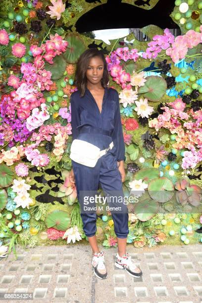 Leomie Anderson is seen at Nick Grimshaw's Sexy Brunch at Sexy Fish on May 21 2017 in London England