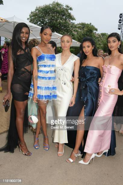 Leomie Anderson Jourdan Dunn Adwoa Aboah Maya Jama and Neelam Gill attend The Summer Party 2019 presented by Serpentine Galleries Chanel and hosted...