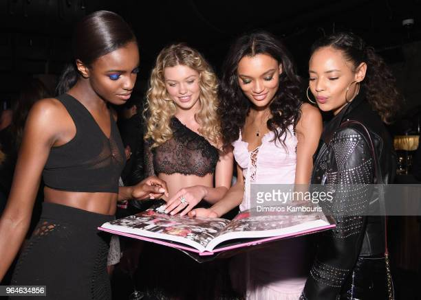"Leomie Anderson, Maggie Laine, Lameka Fox, and Malaika Firth attend the U.S. Book launch of ""Backstage Secrets By Russell James"" hosted by Russell..."