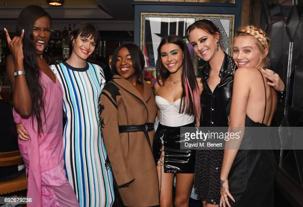 Leomie Anderson Sam Rollinson Ray BLK Madison Beer Eliza Cummings and Cailin Russo attend the Wonderland Summer Issue dinner hosted by Madison Beer...