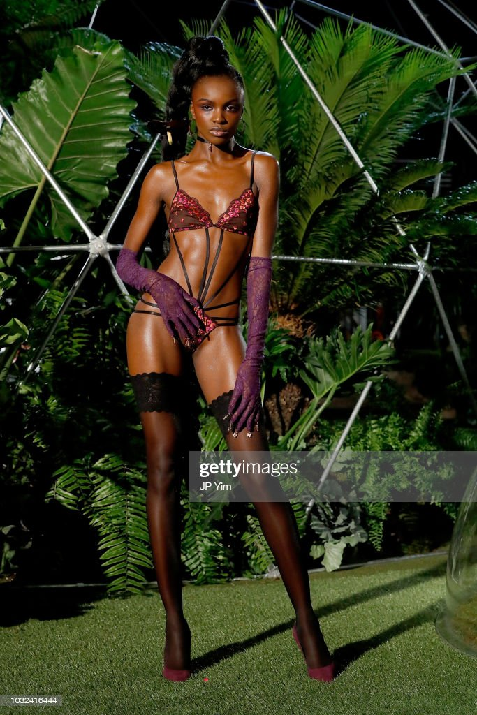 Leomie Anderson walks the runway for the Savage X Fenty Fall/Winter 2018 fashion show during NYFW at the Brooklyn Navy Yard on September 12, 2018 in Brooklyn, NY.