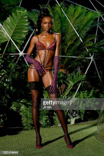 Leomie Anderson walks the runway for the Savage X Fenty Fall/Winter 2018 fashion show during NYFW at the Brooklyn Navy Yard on September 12 2018 in...