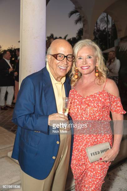 Leon Amar and Sharon Bush attend AVENUE Celebrates the Fresh Faces of Palm Beach and its ReVamped AList at Private Residence on March 3 2018 in Palm...