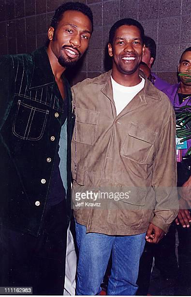 Leon and Denzel Washington during Bruno v Tyson '96 in Las Vegas Nevada United States