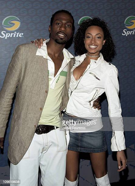 Leon and Ebony during Sprite Street Couture Showcase - Arrivals and Afterparty at Guastavino's in New York City, New York, United States.