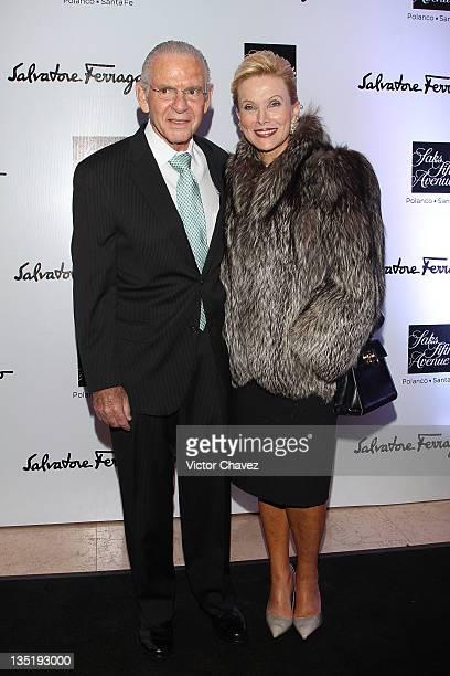Leon and Raquel Bessudo attend the Salvatore Ferragamo Resort 2012 collection launch at Saks Fifth Avenue Plaza Carso on December 6 2011 in Mexico...