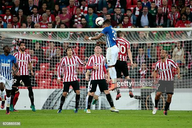 Leon Bailey forward of KRC Genk pictured during the UEFA Europa League group F stage match between Athletic Club de Bilbao and KRC Genk at the...