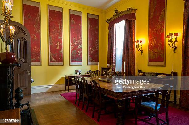 Leon Bakst decorated the dining room of the Garrett family's Evergreen Mansion in 1922 as seen Tuesday July 23 2013 in Baltimore MD The Russian...