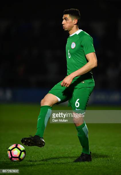 Leon Balogun of Nigeria controls the ball during the International Friendly match between Nigeria and Senegal at The Hive on March 23 2017 in Barnet...