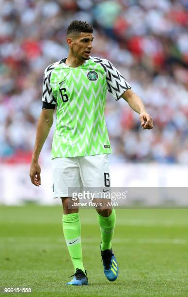 Leon Balogun of Nigeria during the International Friendly between England and Nigeria at Wembley Stadium on June 2 2018 in London England