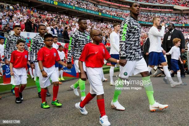 Leon Balogun of Nigeria Joel Obi of Nigeria Ogenyi Onazi of Nigeria Odion Ighalo of Nigeria during the International Friendly match between England v...