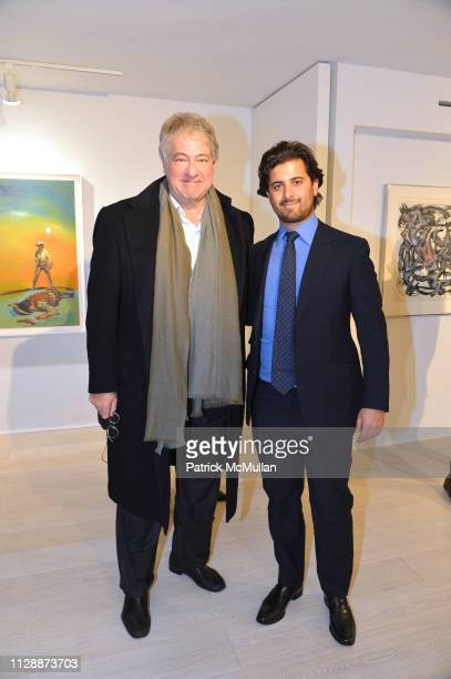 Leon Black and Alexander Heller attend Inaugural Exhibition March 6 April 15 2019 at Leila Heller Gallery on March 5 2019 in New York City