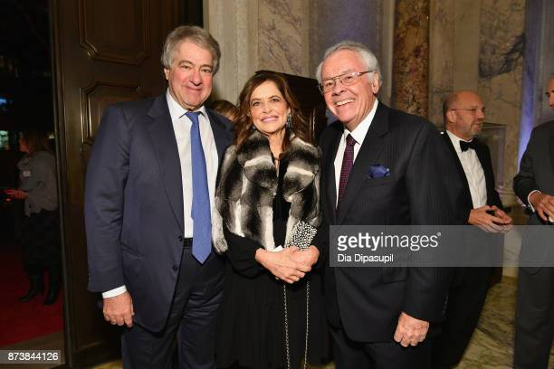 Leon Black, Debra Black and Robert Tuttle attend the Getty Medal Dinner 2017 at The Morgan Library & Museum on November 13, 2017 in New York City.