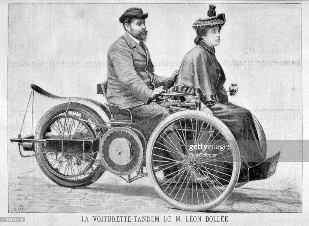 Leon Bollee\'s \'Voiturette\' car, 1896. Artist: Henri Meyer Pictures ...