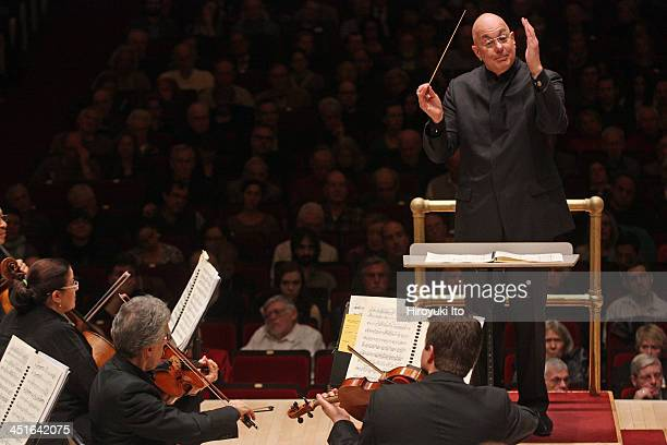 Leon Botstein leading the American Symphony Orchestra in an all-Elliott Carter program at Carnegie Hall on Sunday afternoon, November 17, 2013.