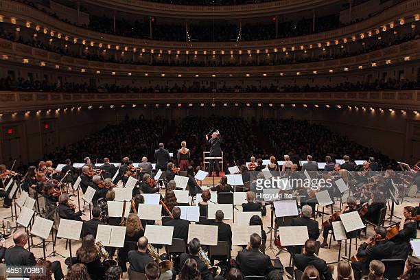 Leon Botstein leading the American Symphony Orchestra the Collegiate Chorale Singers and the Manhattan Girls Chorus in Strauss's Feuersnot at...