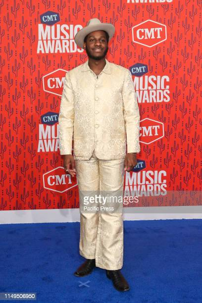 Leon Bridges attends the 2019 CMT Music Awards at the Bridgestone Arena in Nashville Tennessee