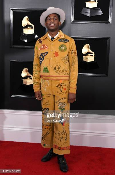 Leon Bridges attends the 61st Annual GRAMMY Awards at Staples Center on February 10 2019 in Los Angeles California