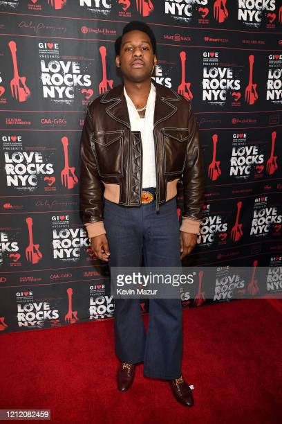 Leon Bridges attends the Fourth Annual LOVE ROCKS NYC Benefit Concert For God's Love We Deliver at Beacon Theatre on March 12, 2020 in New York City.
