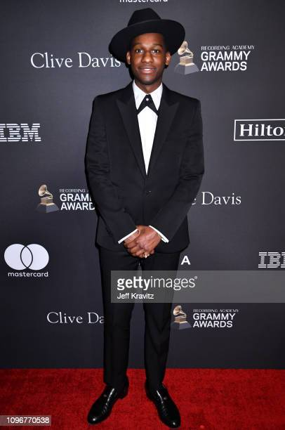 Leon Bridges attends The Recording Academy And Clive Davis' 2019 PreGRAMMY Gala at The Beverly Hilton Hotel on February 9 2019 in Beverly Hills...