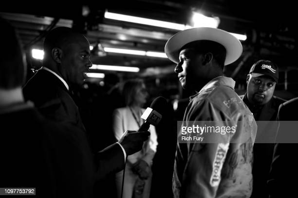 Leon Bridges backstage during the 61st Annual GRAMMY Awards at Staples Center on February 10, 2019 in Los Angeles, California.