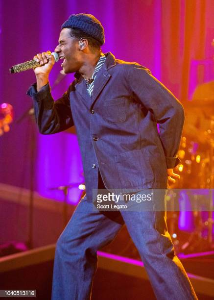 Leon Bridges performs at the Fox theater on September 25 2018 in Detroit Michigan